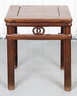 Chinese Style Oak Side Table