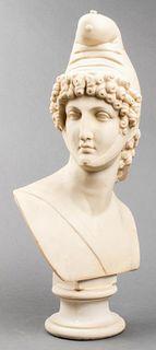 After Canova Large Bust of Paris