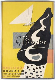 Georges Braque Exhibition Poster, 1953