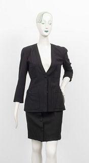 Chanel Boutique Black Skirt Suit