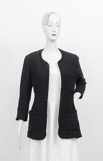 Chanel Black Boucle Blazer