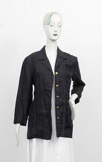 Chanel Black Linen Blazer