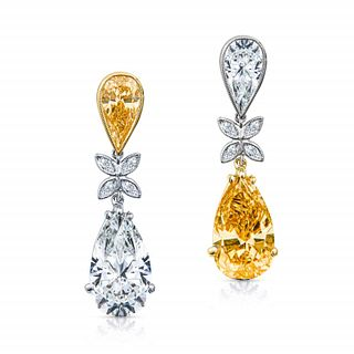 10.03 Ct GIA Certified Fancy Color Earrings