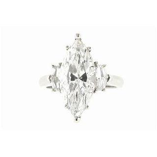 5.09 Ct. Marquise Shape E/SI2 Diamond Ring