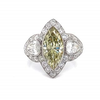 2.20 Ct Fancy Color GIA Certified Diamond Ring