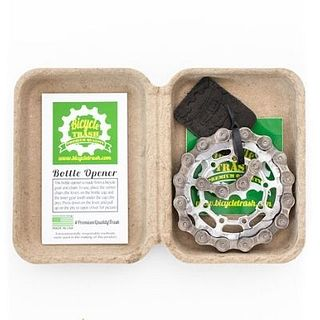 Bottle Opener - Upcycled Bicycle Chain and Cog