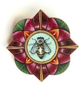 Bee Pin in Flower Frame