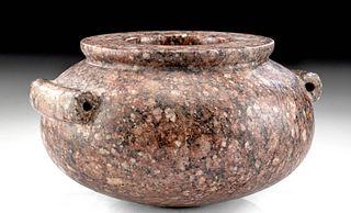 Egyptian Pre-Dynastic Thinite Diorite Porphyry Vessel