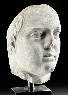 Lifesize Ptolemaic Hellenistic Marble Head, ex-Bonhams