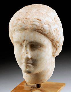 Greek Hellenistic Marble Head Aphrodite ex-Royal Athena