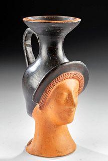 Stunning Greek Attic Head Vase of Aphrodite, TL'd