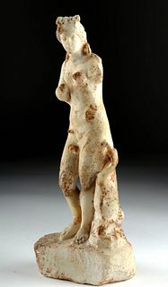 Greek Marble Statue of Aphrodite w/ Dolphin