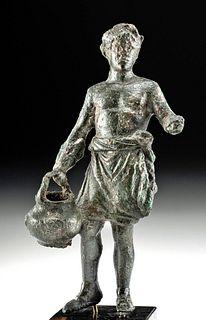 Roman Bronze Statue of a Male, ex-Royal Athena