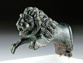 Roman Bronze Lion Protome, ex-Lord Swansea, ex-Bonhams