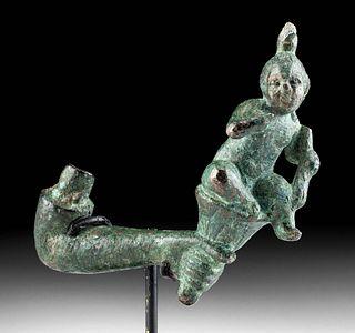 Romano-Egyptian Bronze Arm w/ Harpocrates