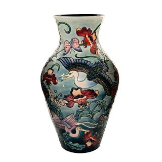 "Impressive Moorcroft Pottery Rachel Bishop 24"" Vase, Kyoto"