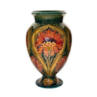 Large William Moorcroft Vase, Revived Cornflower