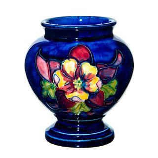 Small Moorcroft Pottery Vase, Columbine Pattern
