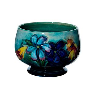Moorcroft Art Pottery Sugar Bowl, Signed