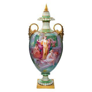 Doulton Burslem George White Neoclassical Exhibition Vase