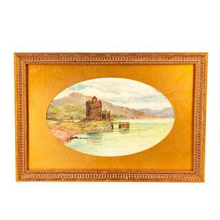Doulton Lambeth Esther Lewis Plaque Carrick Castle Loch Goil