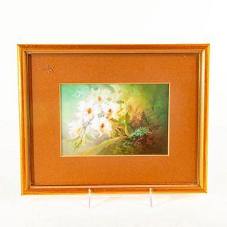 Royal Doulton David Dewsberry Plaque, Flowers