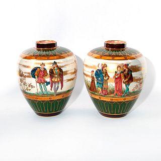 Pair Of Doulton Burslem Vases, Classical Figures