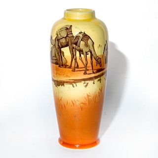 Royal Doulton Ceramic Vase, Desert Scene