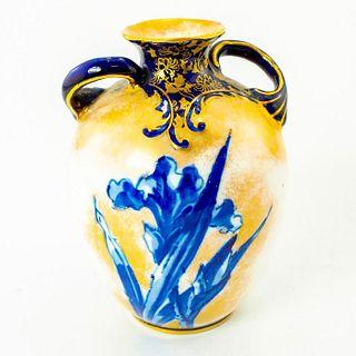 Royal Doulton Ceramic Blue Iris Bud Vase
