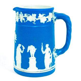 1890s Wedgwood Blue Jasperware Pitcher