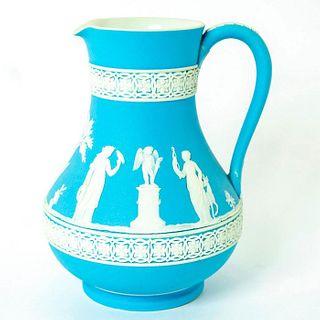 Wedgwood Blue Jasperware Etruscan Jug, Sacrifice