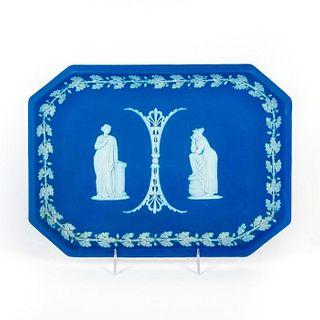 Early Wedgwood Jasperware Blue Vanity Tray
