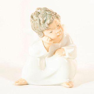 Angel Thinking 01004539a - Lladro Porcelain Figure