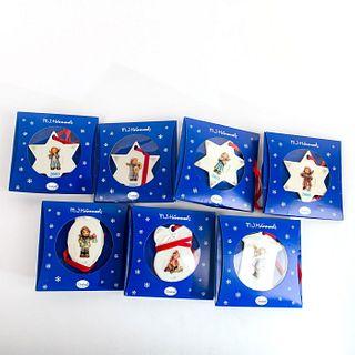 Set of 7 Hummel Ornaments