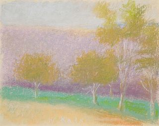 Wolf Kahn (American/German, 1927-2020) Five Trees, 1993