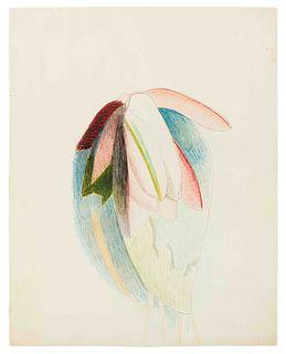 Joseph Stella (American, 1877-1946) Magenta Waterlily