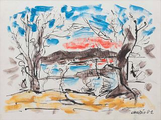 John Marin (American, 1870-1953 Huntington and Vicinity, Long Island, New York, 1952