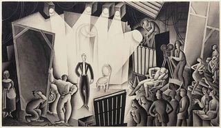 Miguel Covarrubias (Mexican, 1904-1957) Motion Picture Art in the Making, c. 1926