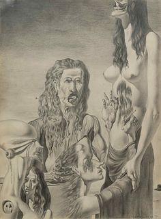 Federico Castellon (American, 1914-1971) The Agony of the Flesh, 1937