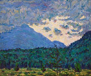 Allen Tucker (American, 1866-1939) Stormy Mountains, 1915