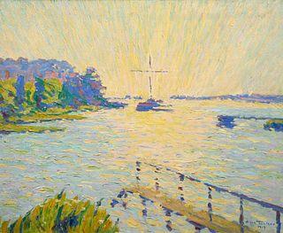 Allen Tucker (American, 1866-1939) Sunrise, N.E. Harbor, 1919