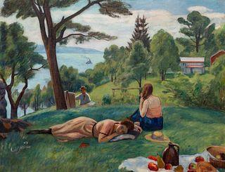 Samuel Halpert (American, 1884-1930) West Camp on the Hudson