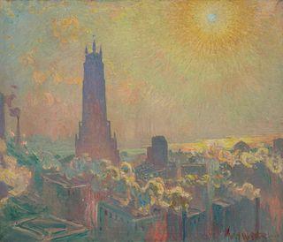 William Samuel Horton (American, 1865-1936) Ritz Tower - Sun, Wind and Smoke, 1928