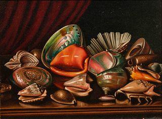 Levi Wells Prentice (American, 1851-1935) Still Life with Seashells, c. 1892