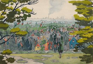 Charles Burchfield(American, 1893-1967)Untitled (May Landscape), May 28, 1916