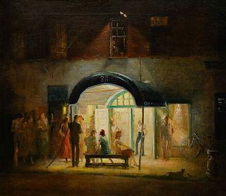 Everett Shinn(American, 1876-1953)Cherry Lane Theater, 1948