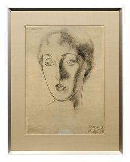 Isamu Noguchi(American, 1904-1988)Head of a Woman, c. 1925