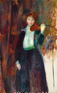 William Glackens(American, 1870-1938)Girl with Violin, c. 1917