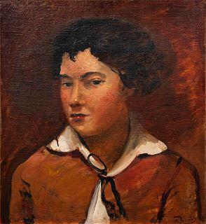Andre Derain (French, 1880-1954) Buste de jeune garcon a la veste rouge, c. 1924-25