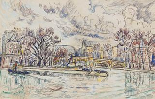 Paul Signac(French, 1863-1935)Le Seine au Pont-Neuf, c. 1925